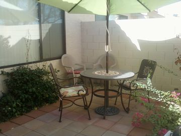Private Patio for morning coffee or afternoon Barbeques