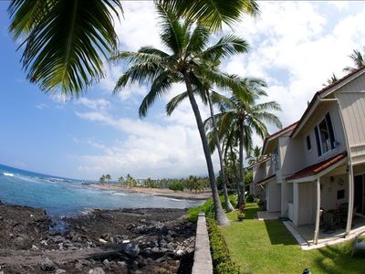 Keauhou townhome rental - Our backyard and side yard for extra privacy