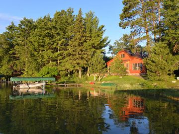 Walker cottage rental - Lakeside view of the new cottage. Mid-summer of 2013.