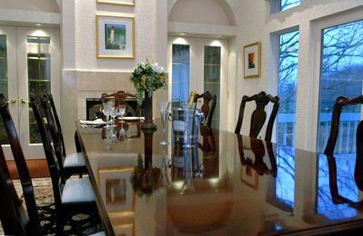 How bout a nice dinner in the formal dining room?