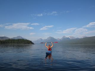 Whitefish cabin photo - All by myself out on Lake McDonald!
