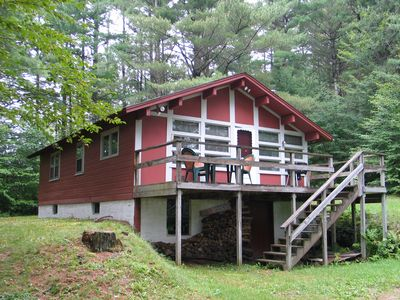 Sugar Hill cabin rental - The Roger's Easton Chalet - Located in picturesque Easton, NH and only about 5.5 miles from I-93 or 7 miles tothe ski slopes of Cannon Mountain or shores of Echo Lake State Beach this is the perect simple get-away vacation rental. It is pet friendly too!