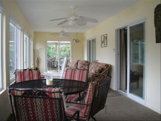 Moneta cottage photo - Beautiful Sunporch overlooking the lake