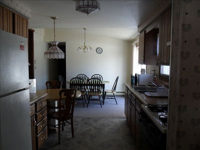 View of Kitchen leading to dining area.