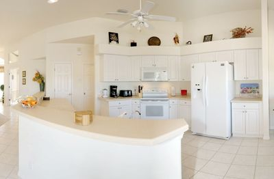 Spacious luxurious kitchen with all comfort