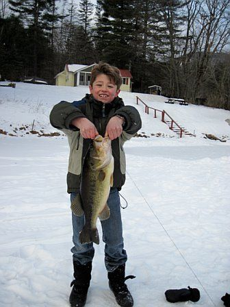 Our Nephew Ice Fishing on Lake Algonquin