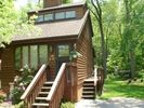 Asheville chalet photo - Romantic & elegant Joy Chalet borders 33 acre woodlands yet is right in town!