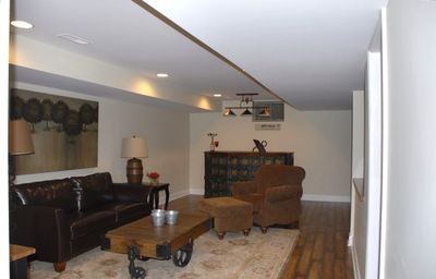 downstairs bar/entertainment room