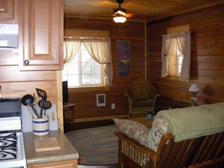 Kalispell barn photo - Downstairs barn with extra kitchen, queen bedroom and bath