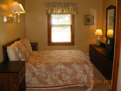 Lake George house rental - 1st Double Bed in the two-bed room