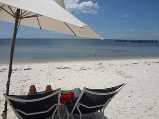 Ruskin townhome photo - Swim, rest and relax on the white sand beach