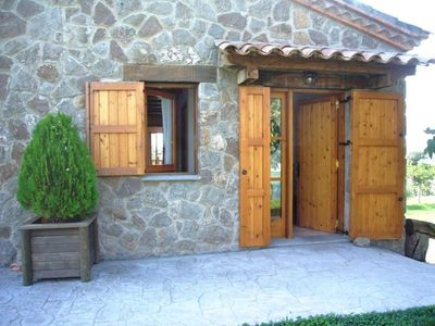 Gironella villa rental - The entrance of the house