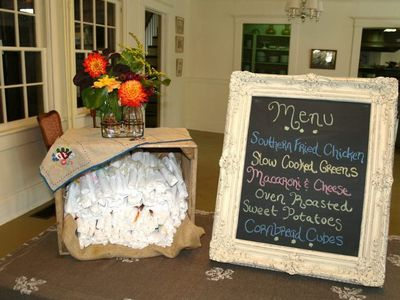 A Southern wedding menu! Yum.