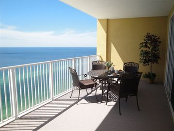 Tropic Winds condo rental - Huge balcony with breathtaking view provides another living space