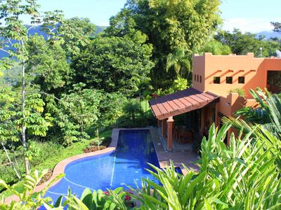 Villa Baha's 11 acres can be explored by hiking its garden and jungle trails