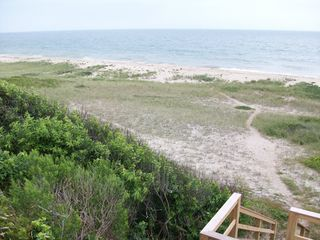 Tom Nevers house photo - Pristine beach looking East in July; empty awaiting you.