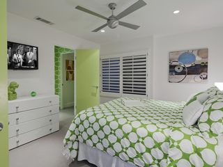 Indian Wells house photo - Bedroom # 3 with a queen sized bed, Flat Screened TV w DVD
