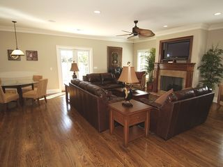 Isle of Palms house photo - Spacious Living Room & Breakfast Nook
