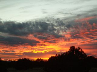 Mountainair villa photo - Another Beautiful Sunset Over the Ranch