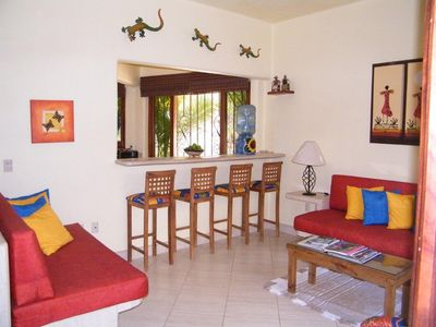 Sayulita house rental - Casa Livingroom and Breakfast Bar