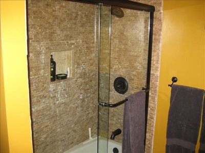 Tub and Shower Combo in Master Bathroom