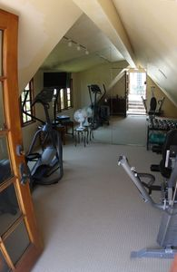 work out room off master upstairs patio