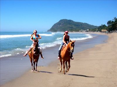 Lo De Marcos house rental - Horse back riding on Lo De Marcos beach / contact property manager.