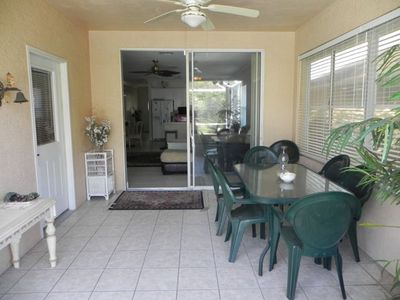 Vanderbilt Beach house rental - Have dinner out on the lanai.
