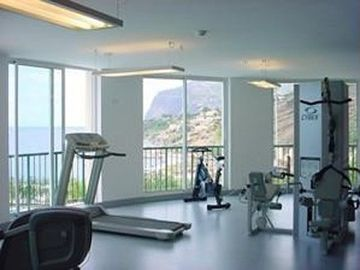 The Gym with sea view