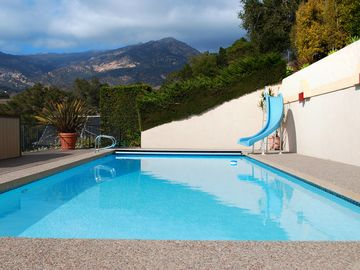 Santa Barbara apartment rental - Pool on a cloudy day but mostly, it's sunny.