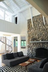 Woodstock house photo - Living Room with stone fireplace