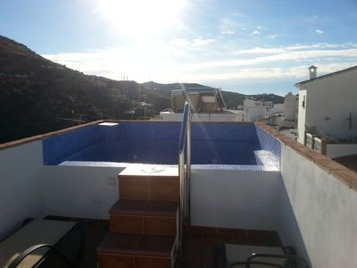 3 Bed 3 Bath House in torrox pueblo with Spalshpool