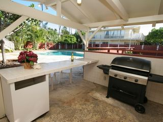 Kailua house photo - BBQ by the pool area