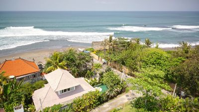 Our amazing location - right on Pererenan beach, only 10 min walk to Echo Beach!