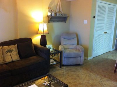 Living room with recliner