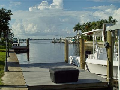 The canal leads out to the Peace River, Charlotte Harbor and the Gulf of Mexico!
