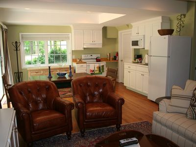 living area seats 4 in absolute comfort and perfect view of flat screen TV