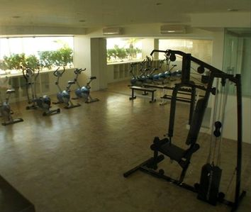 Exclusive gym facing poolside. Punta Arena is the only condo with its own gym.