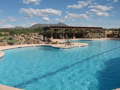The pool at Embarcadero in Tubac,  Arizona rivals pools at 5 star hotels.