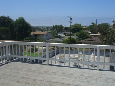 View looking out from deck