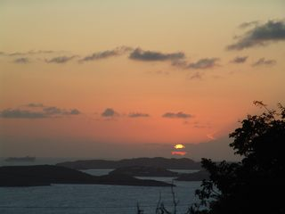 Chocolate Hole villa photo - Sunset over Puerto Rico