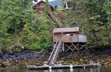 Prince of Wales Island cabin rental - Your ocean front cabin with private dock!