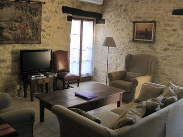 Living room of Le Pommier
