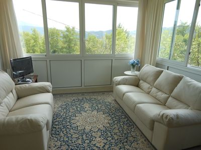 Alessandria farmhouse rental - Living room (with TV)
