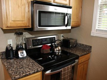 Full Size - Stainless Steel - Stove & Microwave