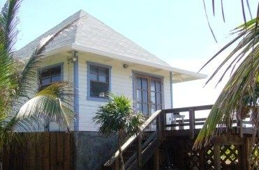 Bungalow exterior with deck that allows for 270 degree ocean view!