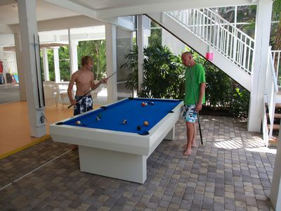Outdoor Full Size Pool Table