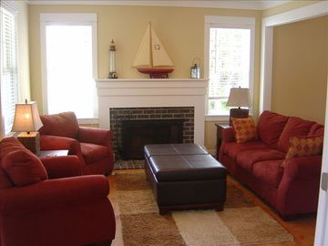 Seabrook house rental - Living Room On First Floor