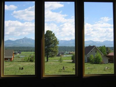 View of San Juan Mountain range from North windows