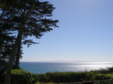 Santa Barbara house rental - View from the backyard